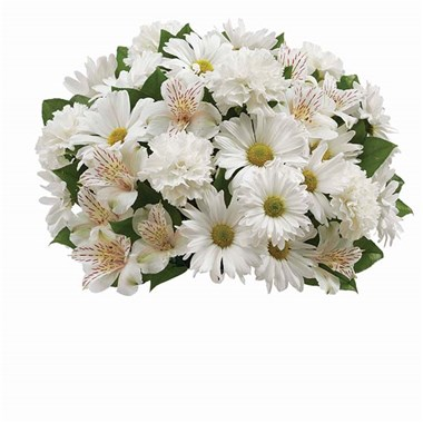 1 800 Flowers Personalized Vase With All White Bouquet Lily S Florist